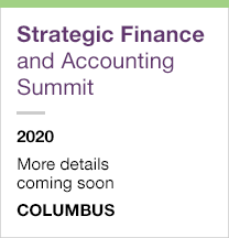 Strategic Finance and Accounting Summit 2020, more details coming soon