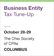 Business Entity Tax Tune-Up, October 28-29