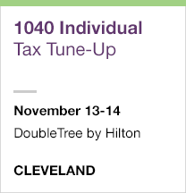 1040 Individual Tax Tune-Up, November 13-14