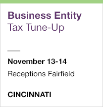 Business Entity Tax Tune-Up, November 13-14