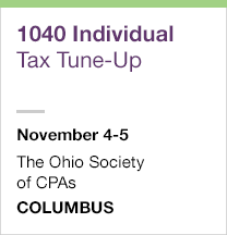 1040 Individual Tax Tune-Up, November 4-5